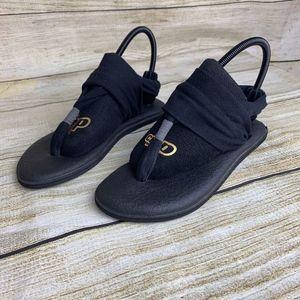 Sanuk Black Yoga Sling 2 Thong Sandals Yoga Mat